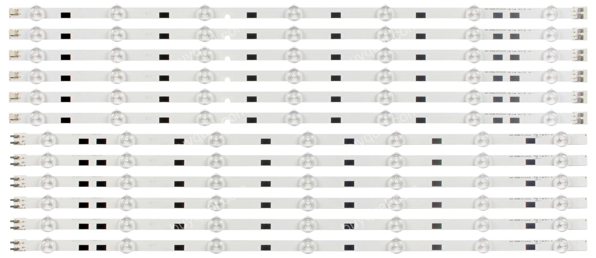 Samsung BN96-32771A / BN96-32772A DMGE-580SMA-R3 DMGE-580SMB-R3 / LM41-00091G LM41-00091F (2014SVS58_MEGA_3228_R_7LED, 2014SVS58_MEGA_3228_L_7LED) LED Strips - 12 Strips