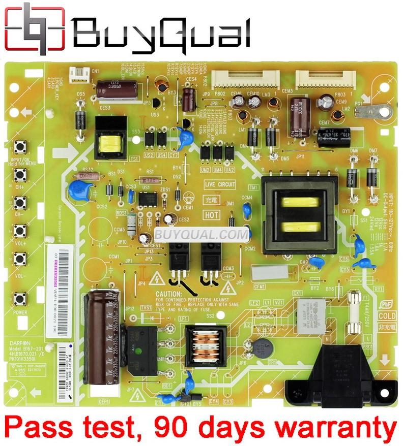 Sharp TZZ00000844A ,B16-201, 4H.B1670.021/D, PK101V3350I  Power Supply / LED Board