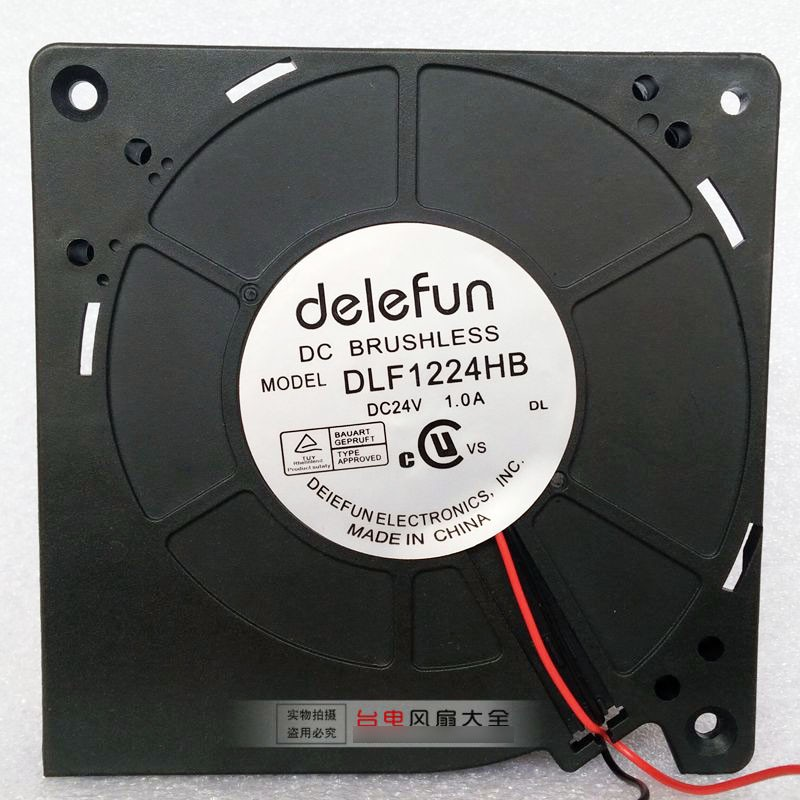 Delefun DLF1224HB 24V 1.0A 2 Wires Cooling Fan