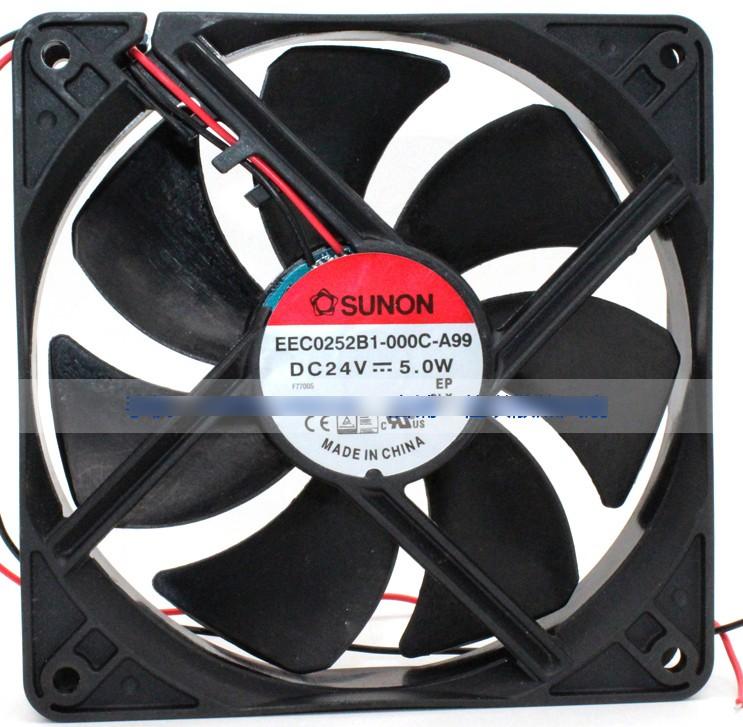 SUNON EEC0252B1-000C-A99 24V 5.0W 5.4W 2 Wires Cooling Fan