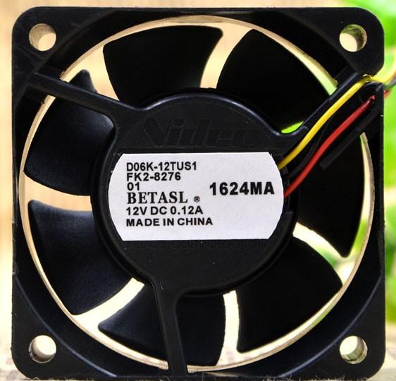 Nidec D06K-12TUS1 12V 0.12A 3 Wires Cooling Fan