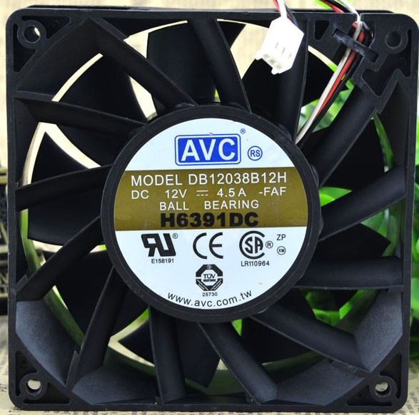 AVC DB12038B12H 12V 4.5A 3 Wires Cooling Fan