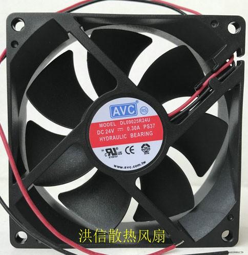 AVC DL09025R24U 24V 0.30A 2 Wires Cooling Fan