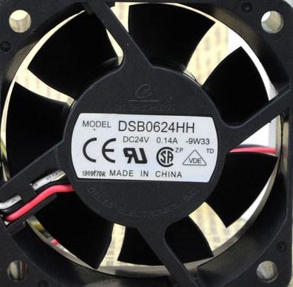 DELTA DSB0624HH 24V 0.14A 2 Wires Cooling Fan