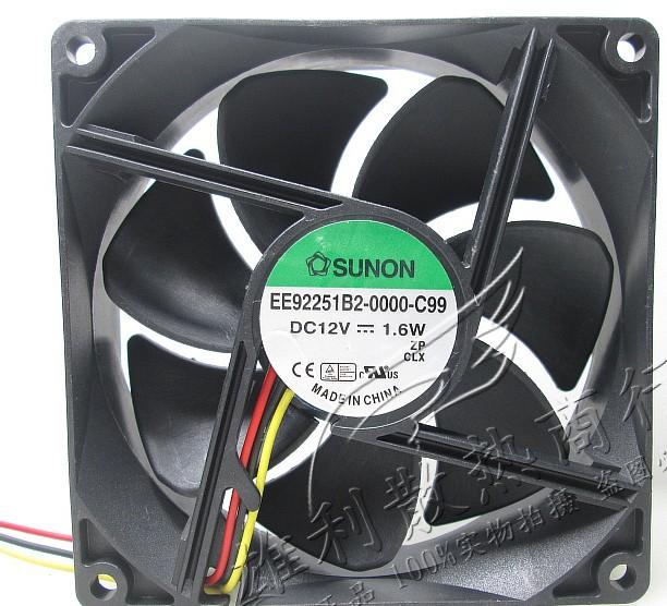 SUNON EE92251B2-0000-C99 12V 1.6W 3 Wires Cooling Fan
