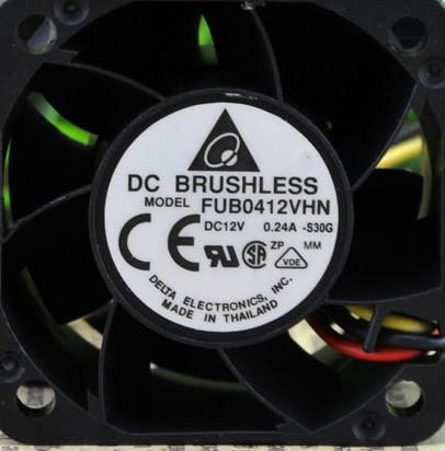 DELTA FUB0412VHN 12V 0.24A 3 Wires Cooling Fan