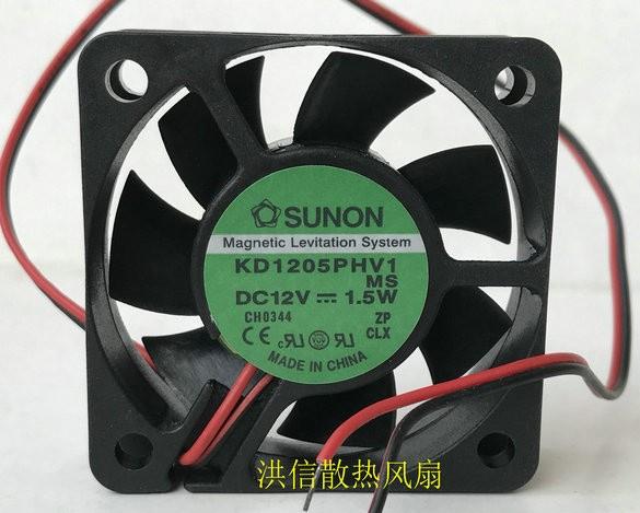 SUNON KD1205PHV1 12V 1.5W 2 Wires Cooling Fan