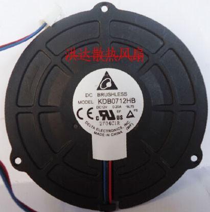 DELTA KDB0712HB 12V 0.20A 3 Wires Cooling Fan