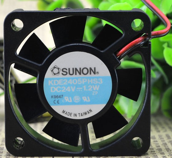 SUNON KDE2405PHS3 24V 1.2W 2 Wires Cooling Fan