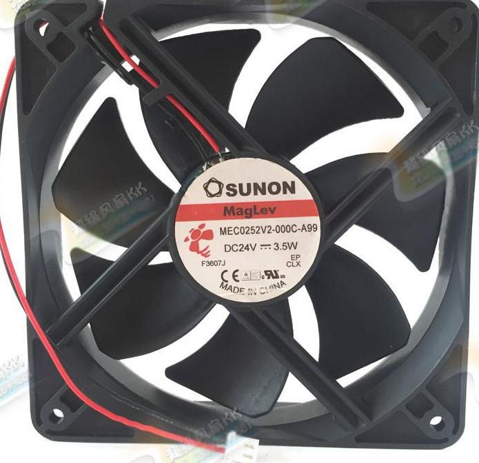 SUNON MEC0252V2-000C-A99 24V 3.5W 2 Wires Cooling Fan