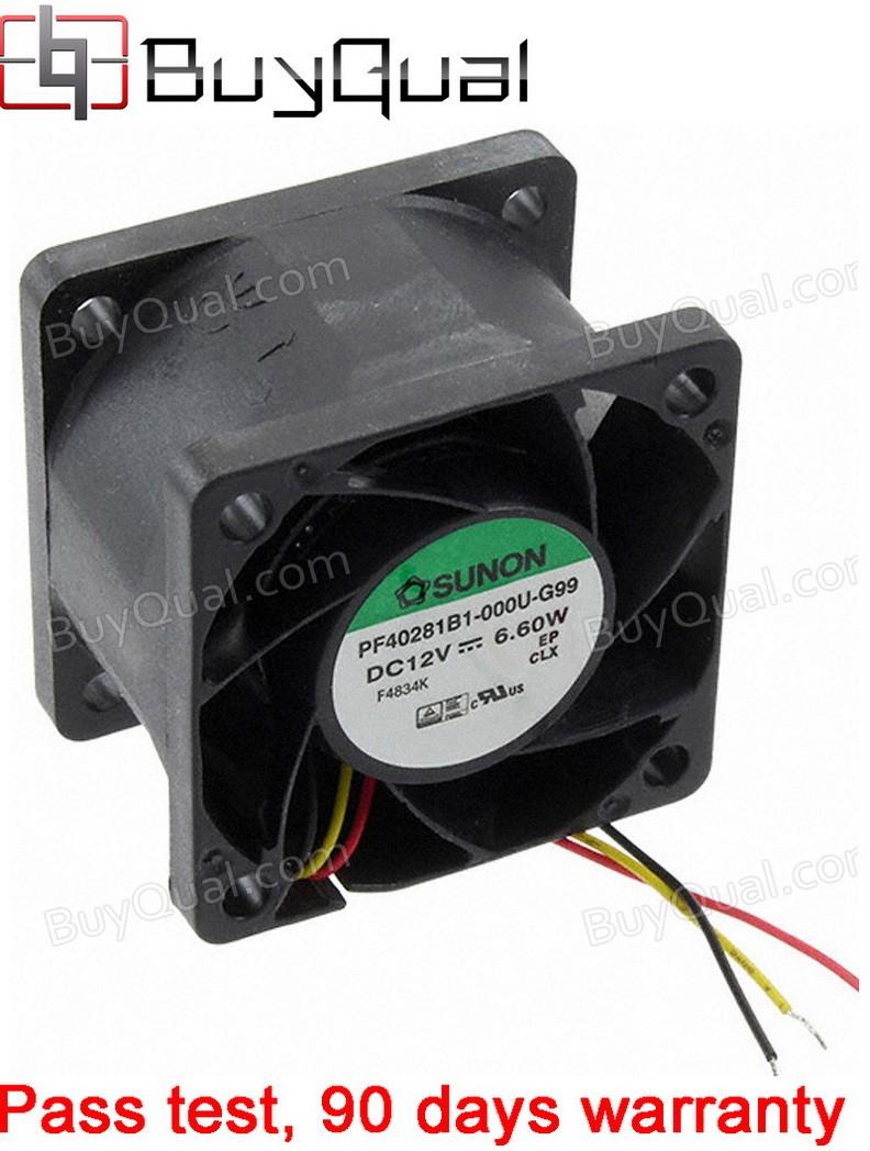 Sunon PF40281B1-000U-G99 12V 0.51A 6.12W 3wires Cooling Fan