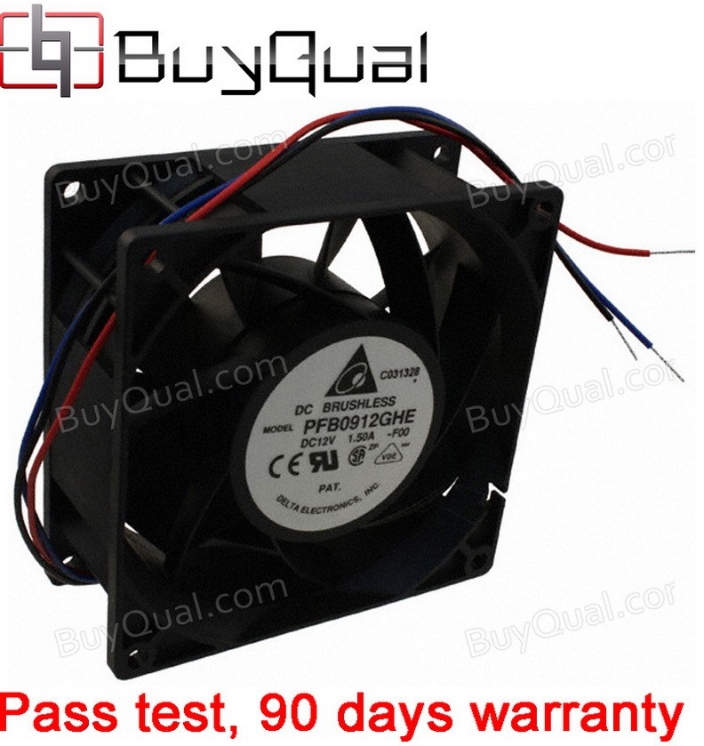 DELTA PFB0912GHE-F00 12V 1.22A 14.6W 3wires Cooling Fan
