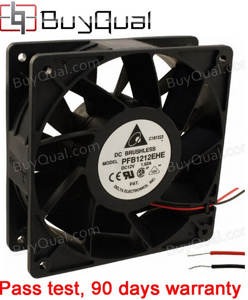 DELTA PFB1212EHE 12V 1.6A 19.2W 2wires Cooling Fan