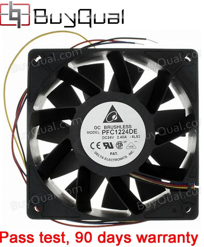 DELTA PFC1224DE-6L52 24V 2A 48W 4wires Cooling Fan