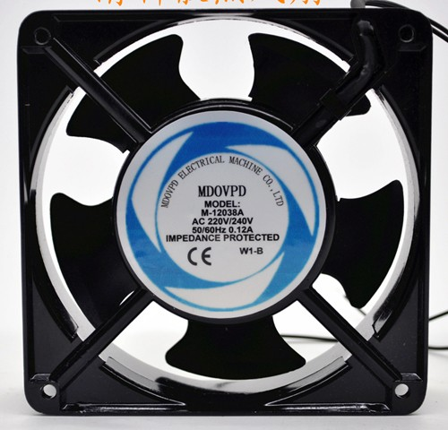 MDOVPD M-12038A 220/240V 0.12A Wires Cooling Fan