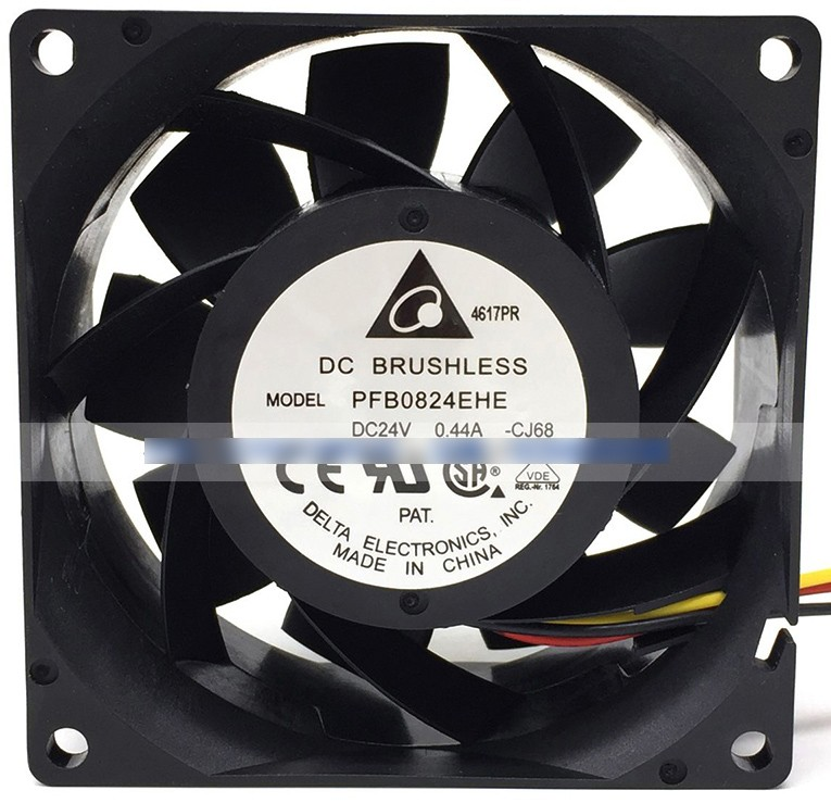 DELTA PFB0824EHE 24V 0.44A 3 Wires Cooling Fan