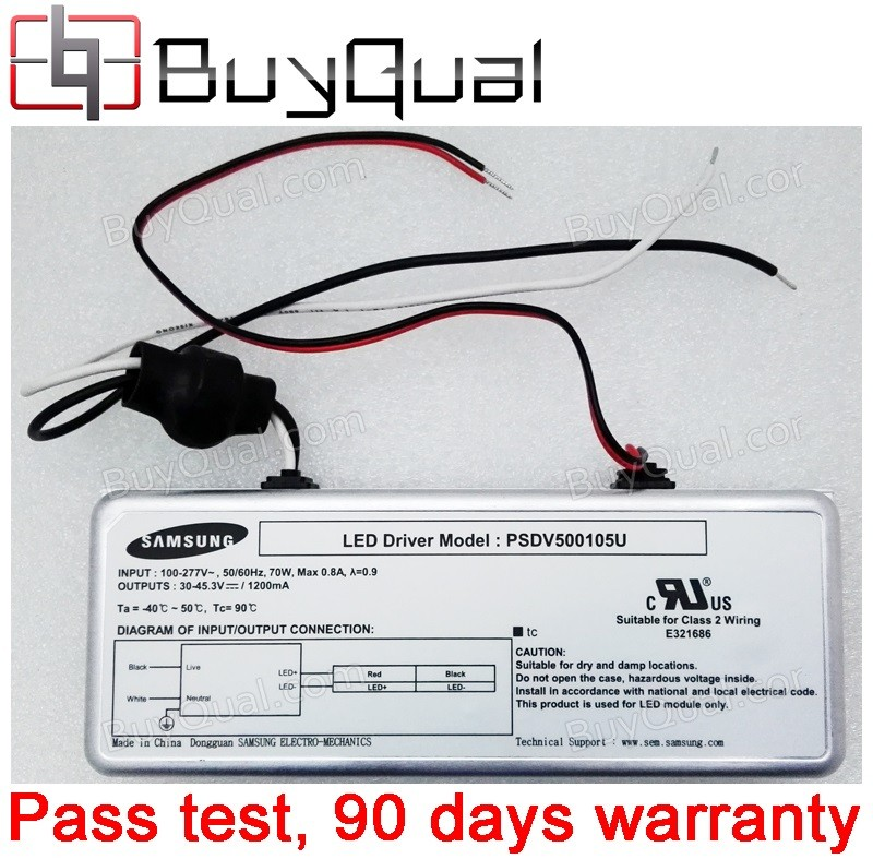 Samsung PSDV500105U 30~45.3V 1200mA outdoor Lighting 70W Class 2 wiring LED Driver / Power - NEW