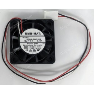 NMB 1604KL-04W-B49 12V 0.1A 3wires Cooling Fan