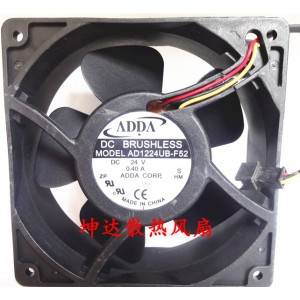 ADDA AD1224UB-F52 24V 0.4A 9.6W Cooling Fan