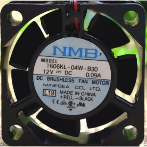 NMB 1606KL-04W-B30 12V 0.09A 2wires Cooling Fan