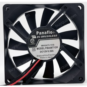 NMB FBA08T12H 12V 0.26A 2.4W 2wires Cooling Fan