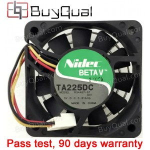 Nidec TA225DC R34487-57 5V 0.31A 3wires Cooling Fan