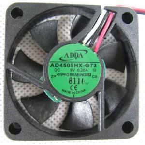 ADDA AD4505HX-G73 5V 0.2A 3wires Hypro Cooling Fan
